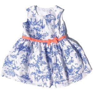 Carter's Blue Pastoral Toile Dress